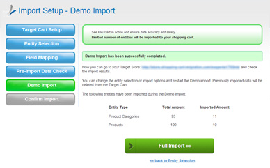 Check Demo Import Results