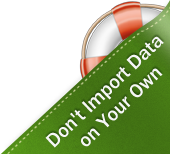 Don't Import Data on Your Own